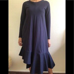 COS Long sleeve asymmetrical dress